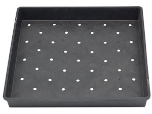 "17"" x 17"" Wheatgrass / Sprout Growing Tray with Drainage Holes"